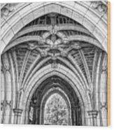 Princeton University Arched Walkway Wood Print