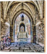 Princeton University Arches And Stairway To Education Wood Print