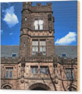 Princeton University East Pyne Hall  Wood Print