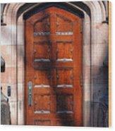 Princeton University Wood Door  Wood Print