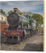 Print Of Gwr 6960 'raveningham Hall, Sits At Bishops Lydeard On  Wood Print