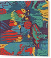 Printed Saltillo Wood Print