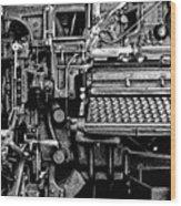 Printing Press Wood Print by Kenneth Mucke