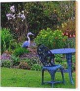 Priscillas English Garden Wood Print