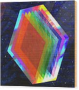 Prismatic Dimensions Wood Print