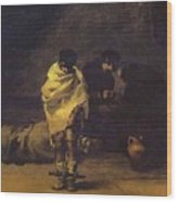 Prison Scene Francisco Jose De Goya Y Lucientes Wood Print