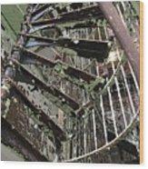 Prison Spiral Staircase Wood Print