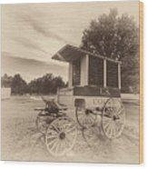 Prison Wagon In Sepia Wood Print