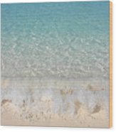 Pristine Beach At Half Moon Cay Wood Print