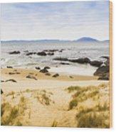 Pristine Beach Background Wood Print