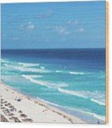 Pristine Beach In Cancun Wood Print