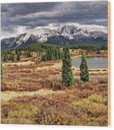 Pristine Mountain Lake Wood Print
