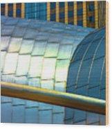 Pritzker Pavilion And Prudential Plaza Dsc2753 Wood Print