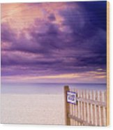 Private Beach Cape Cod Wood Print