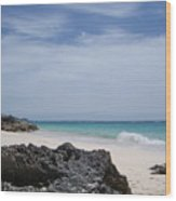 Private Bermuda Beach Wood Print