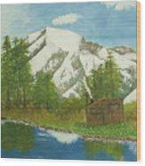 Private Cabin Wood Print