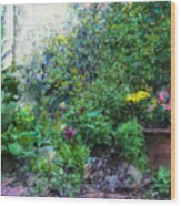 Private Garden Wood Print