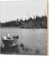 Private Lake  Wood Print