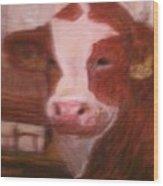 Prized Bull Wood Print by Richalyn Marquez