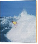 Pro Surfer Chris Ward - 2 Wood Print