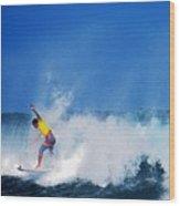 Pro Surfer Chris Ward Wood Print