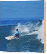 Pro Surfer Ezekiel Lau-1 Wood Print