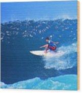 Pro Surfer Ezekiel Lau-3 Wood Print