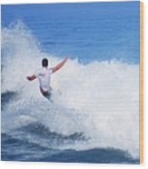 Pro Surfer Gabe King - 4 Wood Print