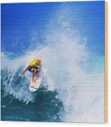 Pro Surfer-nathan Hedge-4 Wood Print