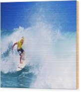 Pro Surfer-nathan Hedge-5 Wood Print