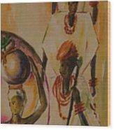 Procession Wood Print
