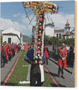 Procession In Furnas - Azores Wood Print