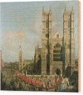 Procession Of The Knights Of The Bath Wood Print