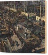 Production Of Tanks Wood Print