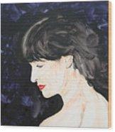 Profile In Purple Wood Print