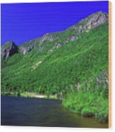 Profile Lake Franconia Notch Wood Print