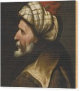 Profile Of A Barbary Pirate Wood Print