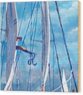 Profile Of A Sailboat Wood Print