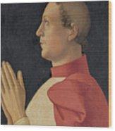 Profile Portrait Of Cardinal Philippe De Levis Wood Print