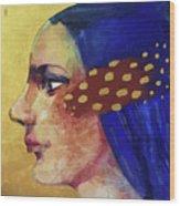 Profilo Di Donna Wood Print