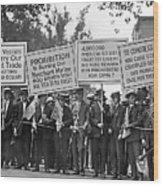 Prohibition Protestors Wood Print