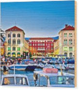 Prokurative Square In Split Evening Colorful View Wood Print