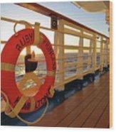 Promenade Deck Wood Print
