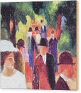 Promenade II By August Macke Wood Print