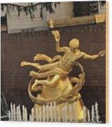 Prometheus Rockefeller Center Wood Print