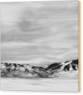 Promontory Mountains 2 Wood Print