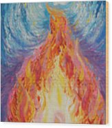 Prophetic Message Sketch 16 Listen To The Benevolent Flame Look For The Promise  Wood Print