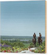 Prophets Last Ride  Bronze Monument Of Hyrum And Joseph Smith In Nauvoo Illinois Wood Print