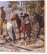 Prospecting For Cattle Range 1889 Wood Print