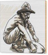 Prospector Wood Print